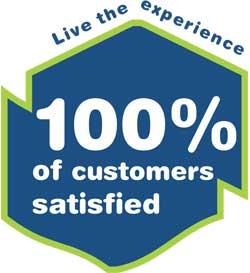 100% of customers satiesfied